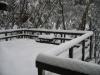 Deck in winter